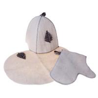 Комплект банный(шляпа,вар,коврик).